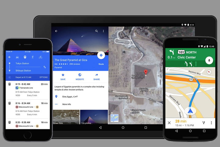Google Intros Newlook Maps For Mobile Plus Uber And OpenTable - Google open table