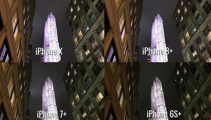 which iphone has the best camera night comparison