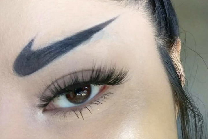 worst internet trends nike eyebrows