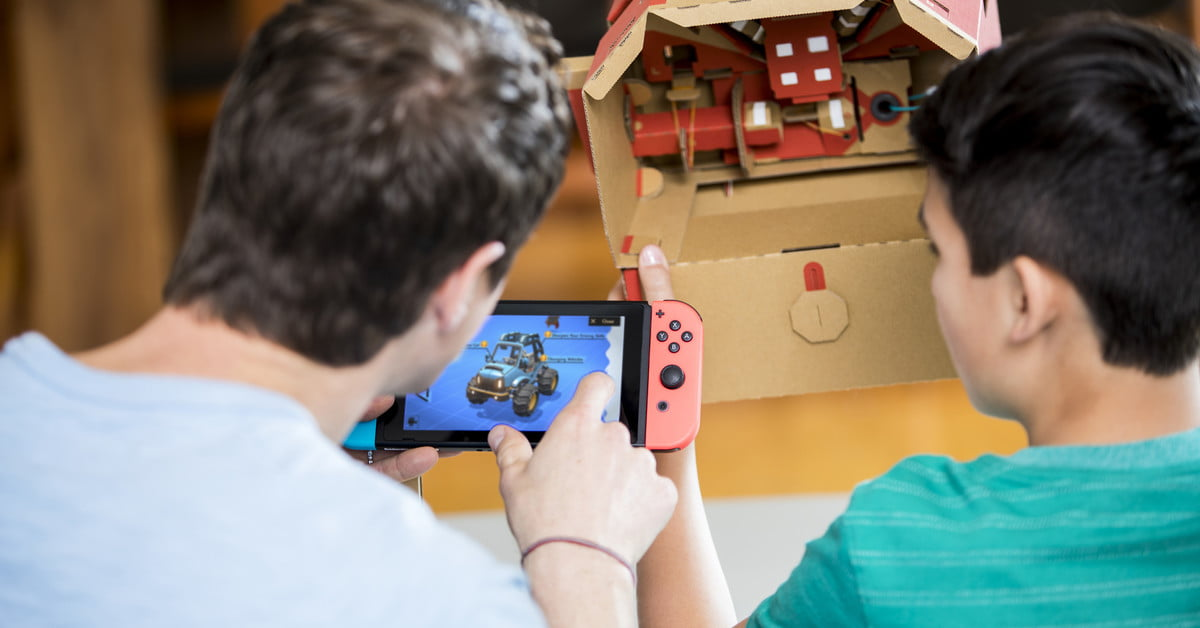 Put the pedal to the metal with the Nintendo Labo Vehicle Kit
