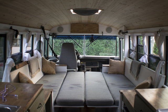 bus converted to solar powered tiny home on wheels nn 0439