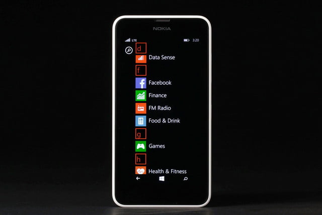 Nokia Lumia 635 front apps 2
