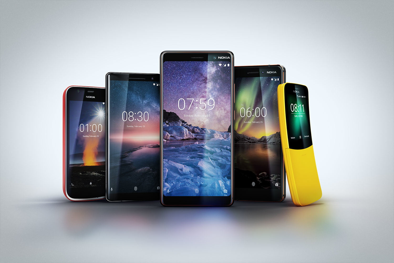 hmd just announced 5 new nokia phones at mobile world congress