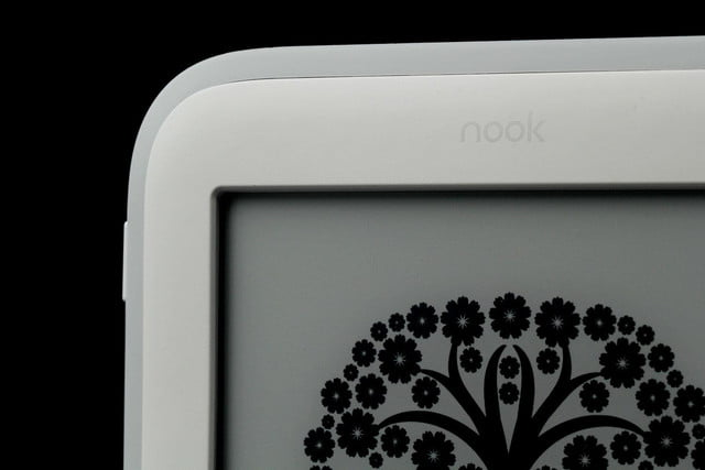 NOOK Glow top screen angle corner