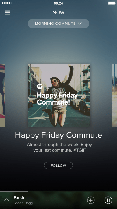 spotify adds video podcasts and running music features now commute screenshot 2