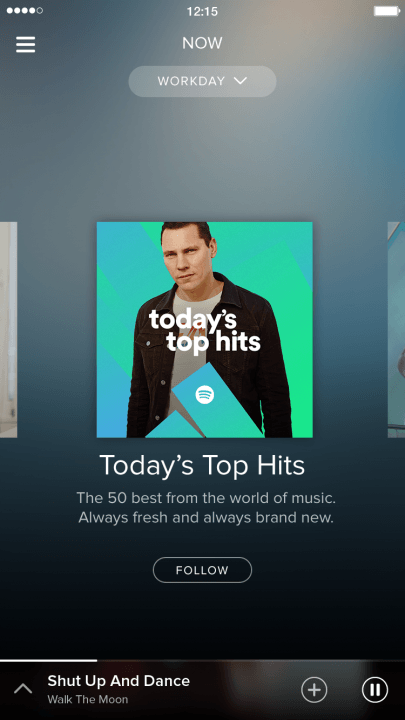 spotify adds video podcasts and running music features now workday screenshot 2