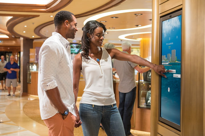carnival ocean medallion how it works compass  guests interacting with portal