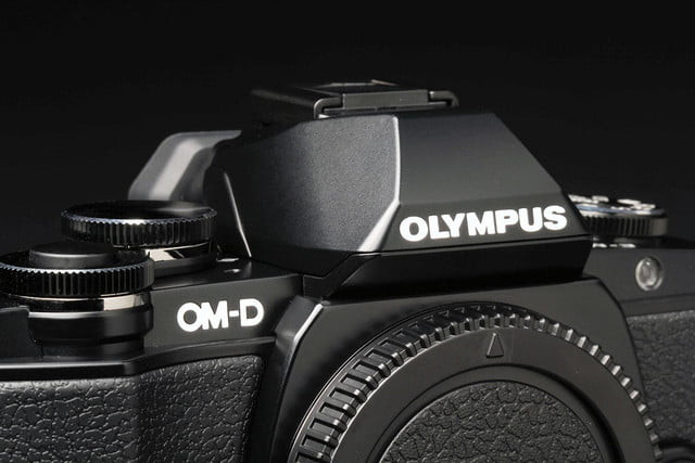 Olympus OM D E M10 top flash closed