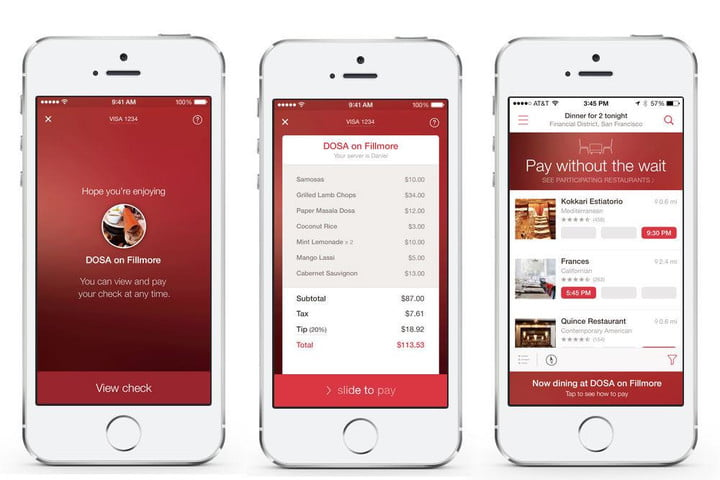OpenTable Adds Mobile Payments To NYC Restaurants Digital Trends - Open table dinner