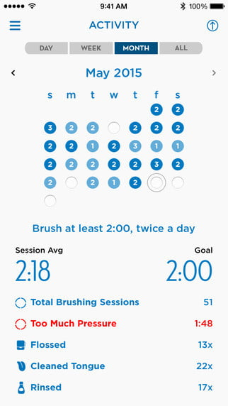 oral b genius toothbrush location tracking technology app ios 002