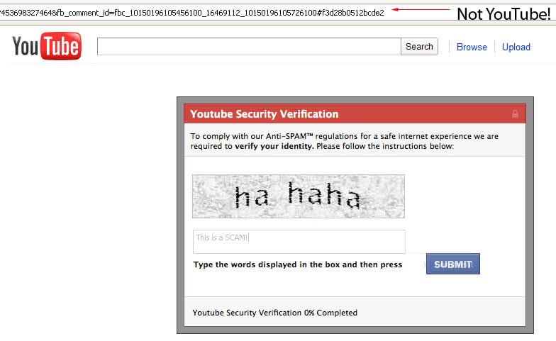 New Facebook Scam Takes You To Fake Youtube Site Digital Trends