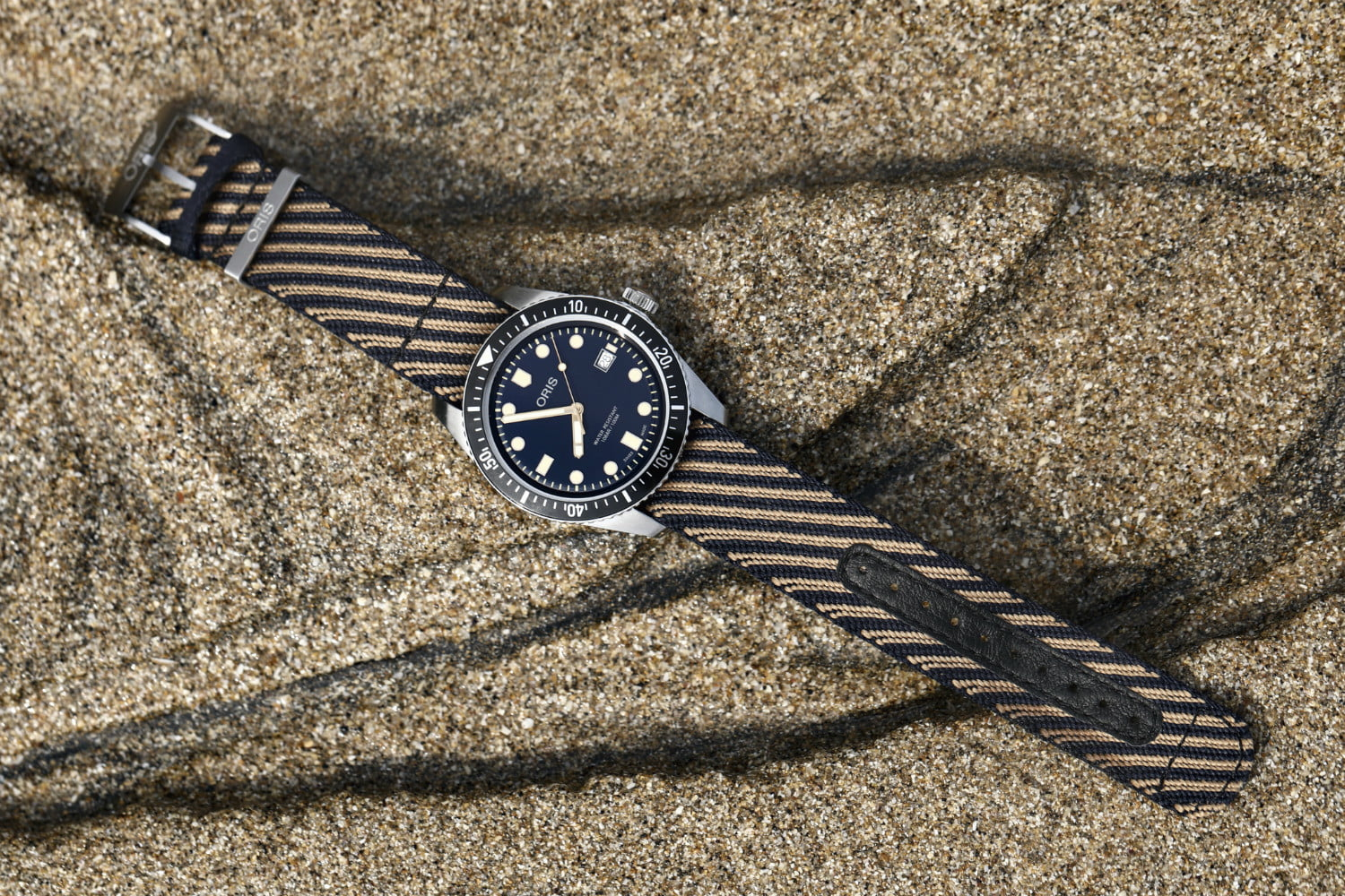 radical and stylish oris watch strap is made from recycled plastics