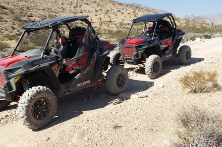 2018 Polaris RZR XP Turbo EPS Dynamix smart suspension keeps it on the level
