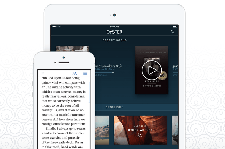 Why you should try out Oyster Books, the Netflix for novels