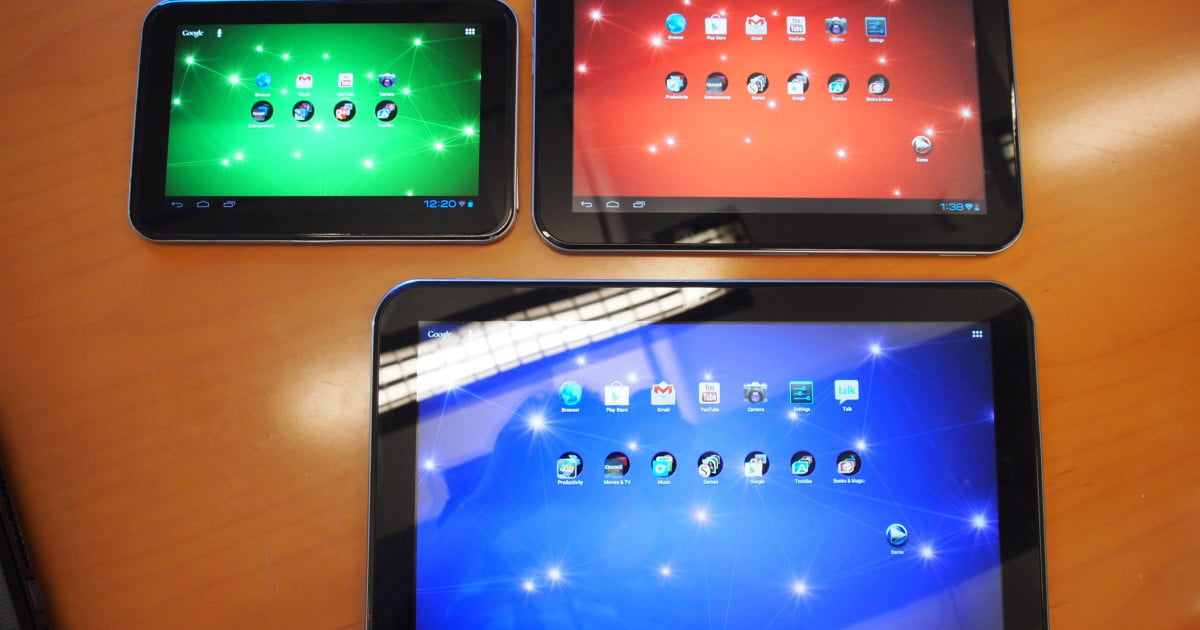 toshiba tablet blowout photos and impressions of the new excite 7 7 rh digitaltrends com