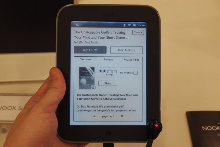 barnes noble nook simple touch with glowlight review digital trends