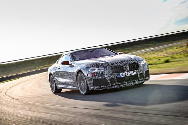here's our first peek at the new bmw 8 series coupe in action