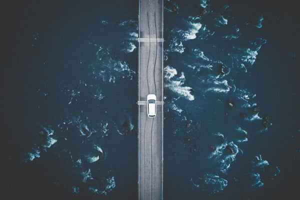 best drone photos passing over
