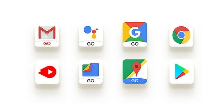 Android Go app icons