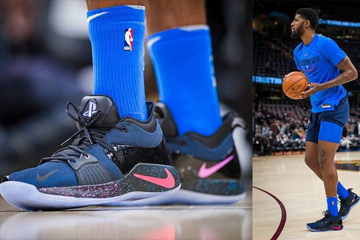 5d0a970c6ec NBA Star Paul George Teams with PlayStation for the Nike PG2 Sneaker ...
