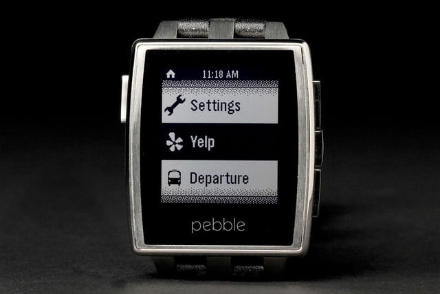 Pebble Steel Watch front screen 5