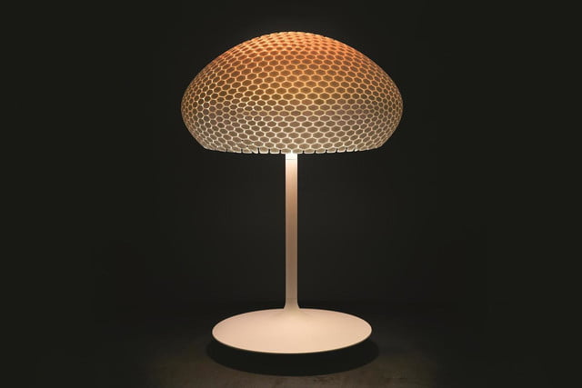 Philips 3D printed hue lamps Luminaires DragonflyTafel Sunrise