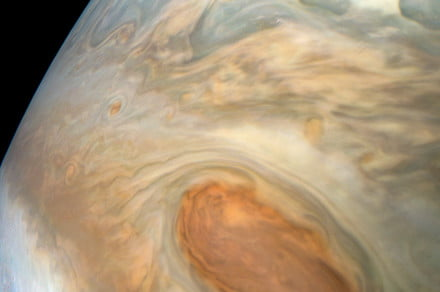 Gorgeous images show storms and cloud formations in the atmosphere of Jupiter