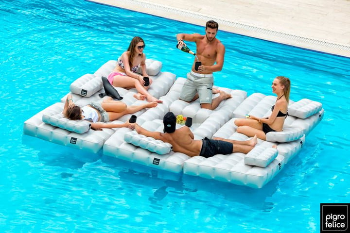 Pigro Felice Inflatable Furniture Floating Lounger Party