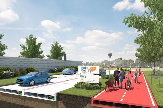 plasticroad plastic paving system piques interest in rotterdam road 2