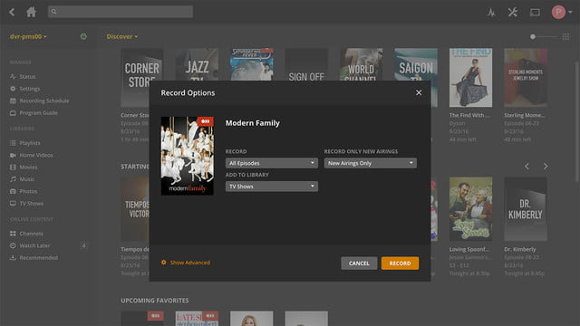 plex media server adds dvr feature 1