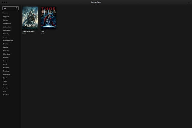 Popcorn Time Software Search Thor