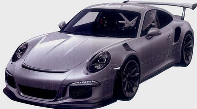 2015 Porsche 911 GT3 RS leaked patent image