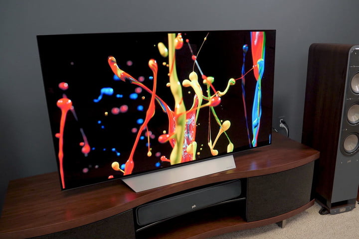 lg c7 oled review oled55c7p oled65c7p best tv of 2017. Black Bedroom Furniture Sets. Home Design Ideas