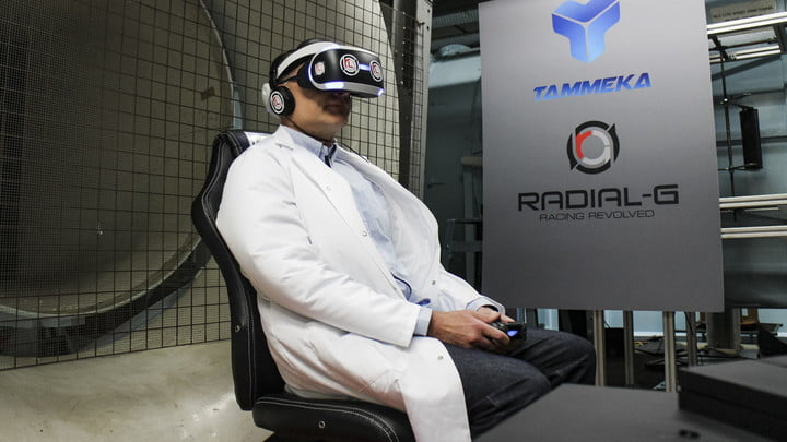 What It's Like To Play VR Racer Radial-G In A Wind Tunnel