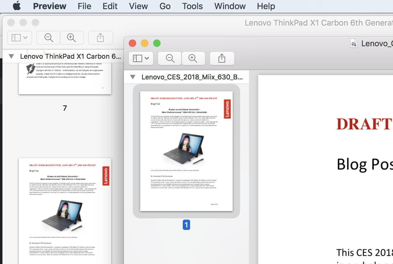 how to combine pdf files preview