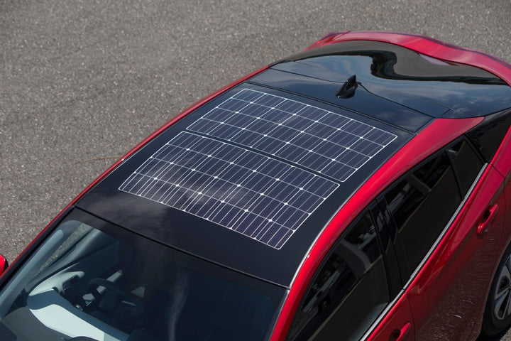 Now That S A Sunroof Toyota Prius Prime Features Panasonic Built Solar Panels