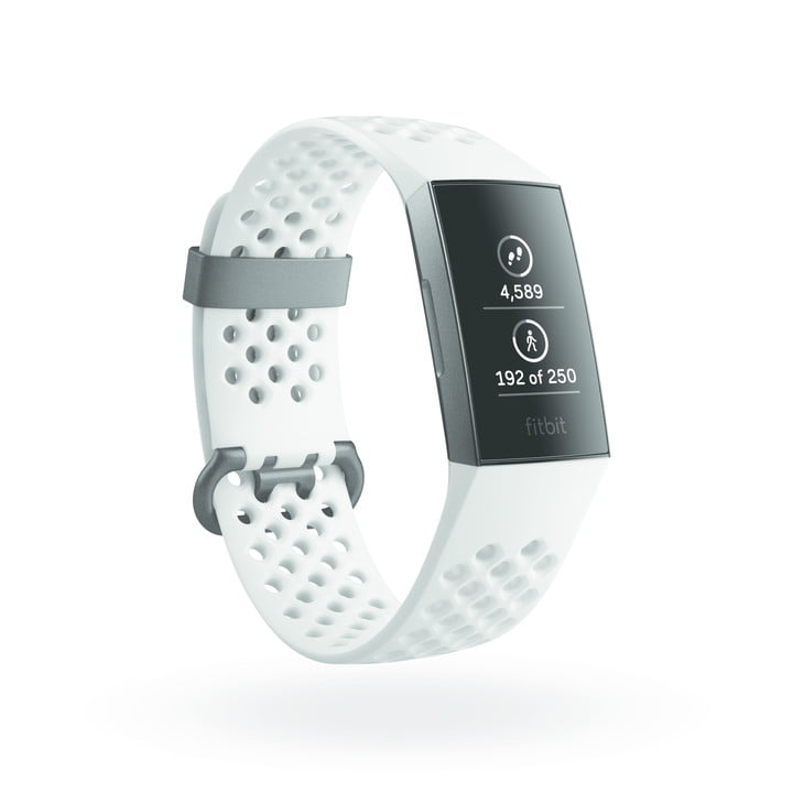 fitbit charge 3 news product render of  quarter view showing steps