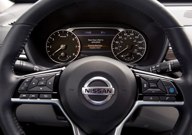 nissan wants no child or pet left behind in a hot car with rear door alert