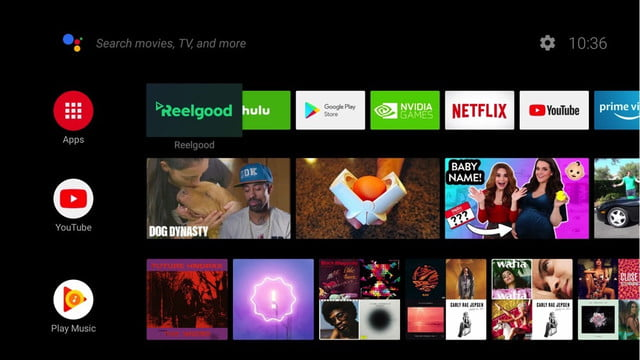 reelgood smart tv android home