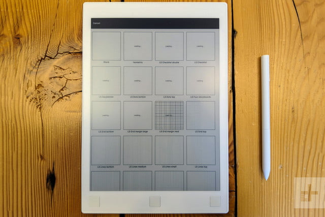 ReMarkable Tablet grid