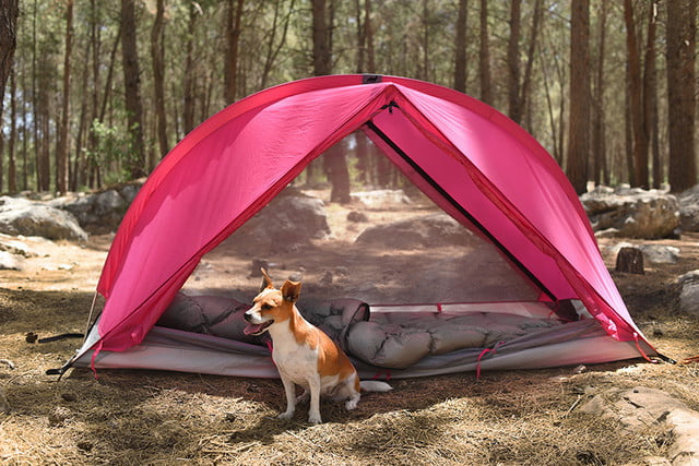 RhinoWolf Modular Attachable Super Tent dog