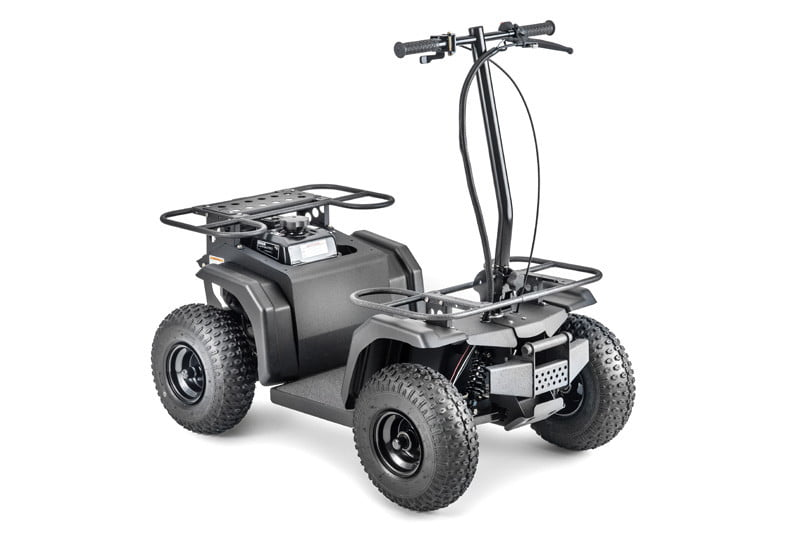 The Ripper ATV is a motorized skateboard that thinks it's a Jeep Wrangler