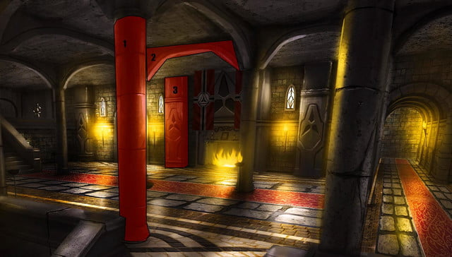 rise of the triad 2013 concept art chase pillars