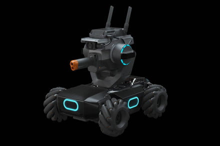 DJI's RoboMaster tank-bot can teach code, play games, and shoot beads