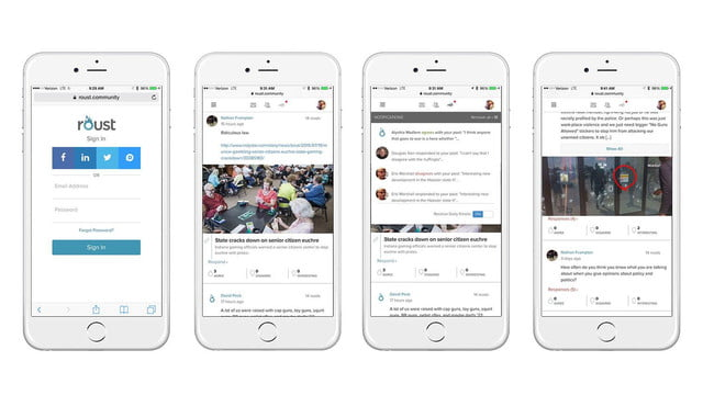roust social network news and interview screens 1