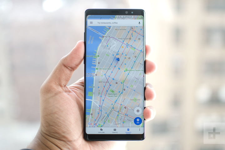 Samsung Galaxy Note 8 review map