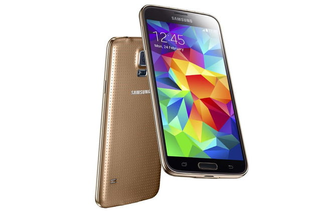 galaxy s5 makes debut samsung unpacked event mwc 2014 copper gold
