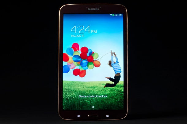 Samsung Galaxy Tab 3 review front lock screen