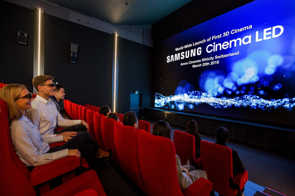 samsung onyx 34 foot led screen theater 3d cinema 2