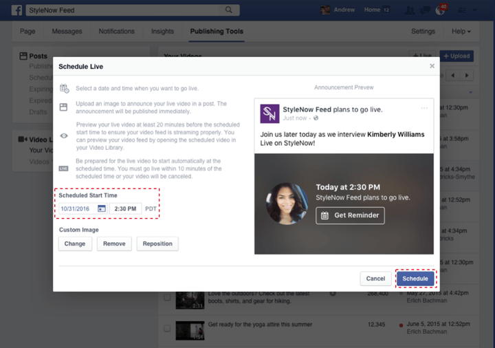 Verified Pages can now schedule Live broadcasts on Facebook